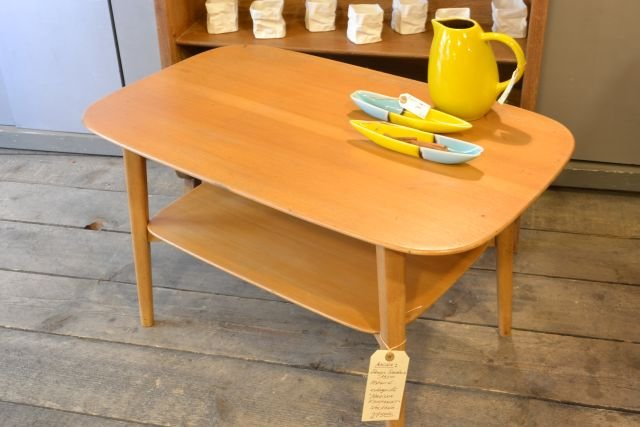 Table basse 1950 design scandinave estampillé